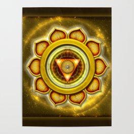 """Manipura Chakra - Solar Plexus Chakra Series """"Open Chakra"""" Poster"""