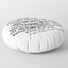 In my younger and more vulnerable years - F Scott Fitzgerald Floor Pillow