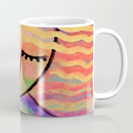 Abstract Portrait of a Blonde Digital Painting Coffee Mug