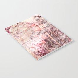 Mauve Grunge Flower Notebook