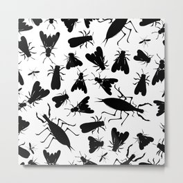 Insect seamless pattern Metal Print