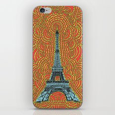 Eiffel Tower Drawing Meditation - Blue/Red/Yellow iPhone & iPod Skin