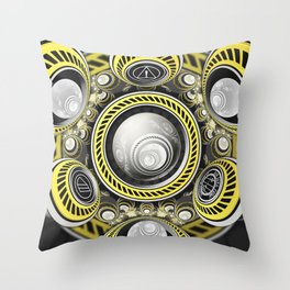 A Cautionary Fractal Cake Baked for GLaDOS Herself Throw Pillow
