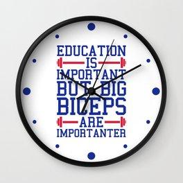 Big Biceps Gym Quote Wall Clock
