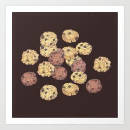 cookies pattern_brown Art Print