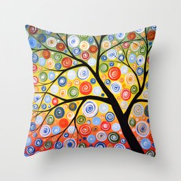 Abstract Art Landscape Original Painting ... Sky of Stars Throw Pillow