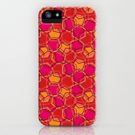 Red Abstract Hexagon iPhone Case