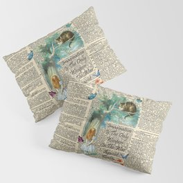 Alice In Wonderland Quote - Imagination - Dictionary Page Pillow Sham