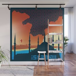 Istanbul Graphic - Square Wall Mural