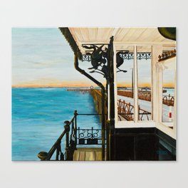Ryde Pier and Shelter Canvas Print