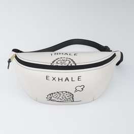 Inhale Exhale Hedgehog Fanny Pack