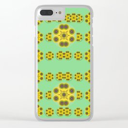 Sun flowers for the soul at peace Clear iPhone Case