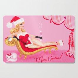 Santa Glamour Girl Cutting Board