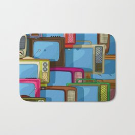 Tv set pattern Bath Mat