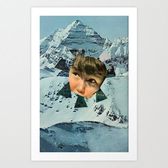 Child in the Wild Snow Art Print