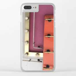 Neon and Lights in Vegas Clear iPhone Case
