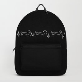 Dachshunds for Life - White/Black Backpack