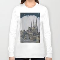 sweden Long Sleeve T-shirts featuring Uppsala Sweden by Alejandro D