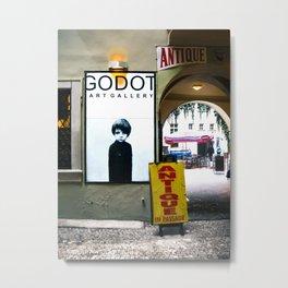 Prague Godot Metal Print