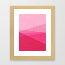 Stripe XI Cotton Candy Framed Art Print