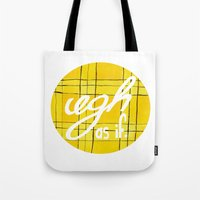 clueless Tote Bags featuring Ugh, As If by NoelleGobbi