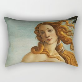 The Birth of Venus detail Rectangular Pillow