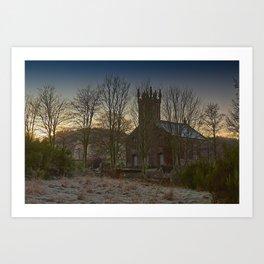 Clunie Church at Dawn Art Print