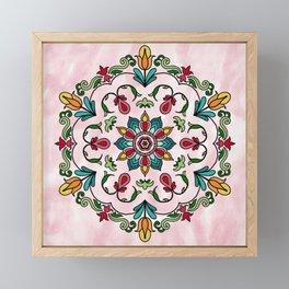Botanical Mandala Framed Mini Art Print