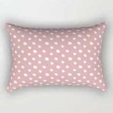 Mauve polka dots pattern - classy college student collection Rectangular Pillow