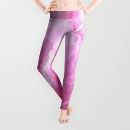 Pink peony illustration Leggings