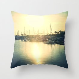 Boats on my side Throw Pillow