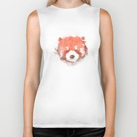 red panda Biker Tanks featuring Red Panda by Zach Terrell