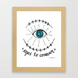 Eyes to conquer Framed Art Print