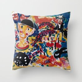 A Clown's Day             by Kay Lipton Throw Pillow