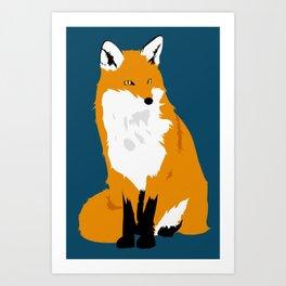 Red Fox (Dark Background) Art Print