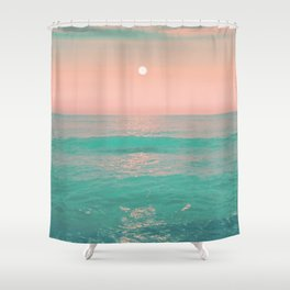 Light Pink Turquoise Waters Shower Curtain