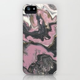 pink panther marble iPhone Case