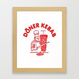 The Famous Döner Kebab Framed Art Print