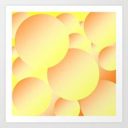 Sunny Bubbles Art Print