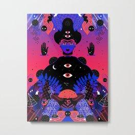 Noche Tropical  de Frida Metal Print