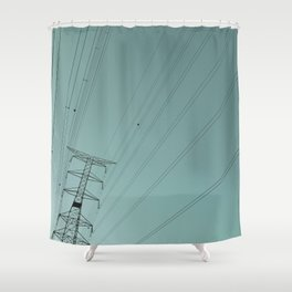 #01#Energy#vintage#film#effect Shower Curtain