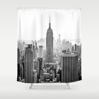 city Shower Curtains featuring New York City by Studio Laura Campanella