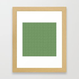 Glittery Green Framed Art Print