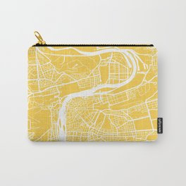 Prague map yellow Carry-All Pouch