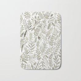 Grey Botanical Bath Mat