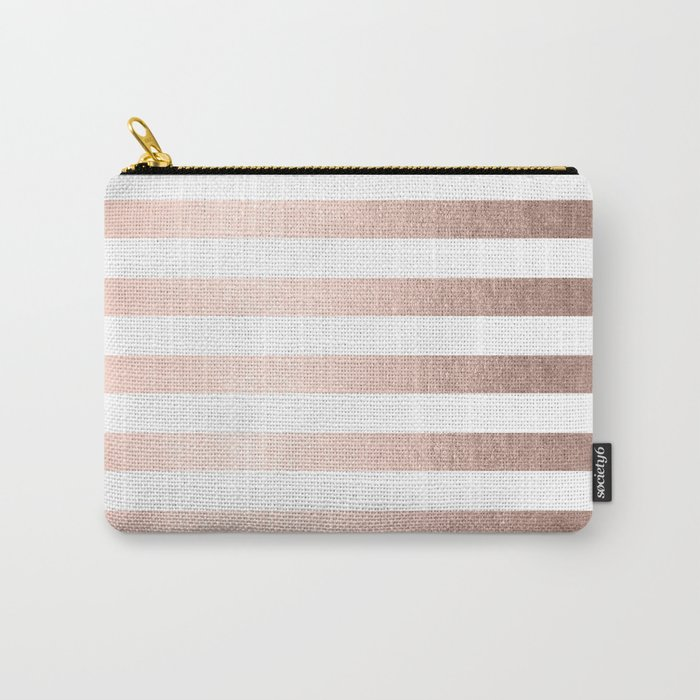 Simply Striped Moon Dust Bronze Carry-All Pouch