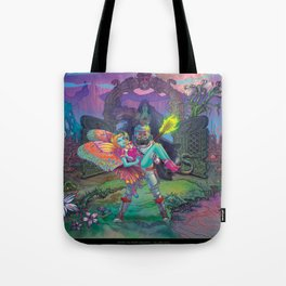 Enter The Dream Sequence - The Lone Gate Tote Bag