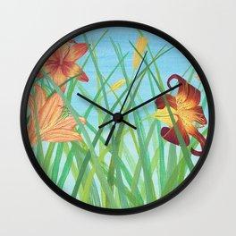 Lilly Garden Wall Clock
