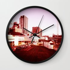 Trains to Central Wall Clock