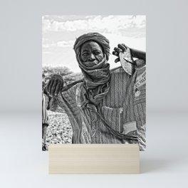 Touareg villager- Timbuktu, Africa Mini Art Print